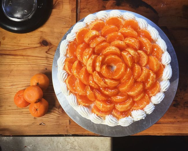 Citrus cake Celebration Citrus  Winter Foods Cake Homemade Dessert Food Food And Drink Freshness Table Still Life Directly Above Dessert High Angle View Sweet Food Orange Color Temptation Indulgence Baked Sweet Ready-to-eat
