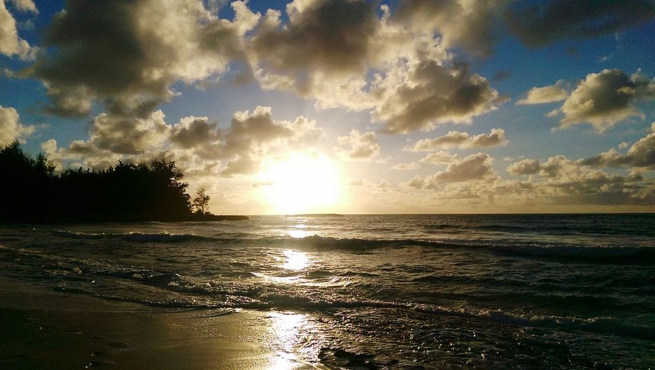 Sunset Sunset_collection Big Sun Soft Waves Clouds And Sky Cloud_collection  Beach Sand And Sea Nature Beach Photography Androidography