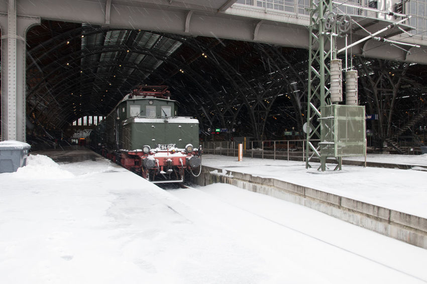 Snow Winter Cold Temperature Transportation Mode Of Transportation Land Vehicle Public Transportation Nature Day No People Snowing Architecture White Color Outdoors Rail Transportation Frozen Motion Covering Train