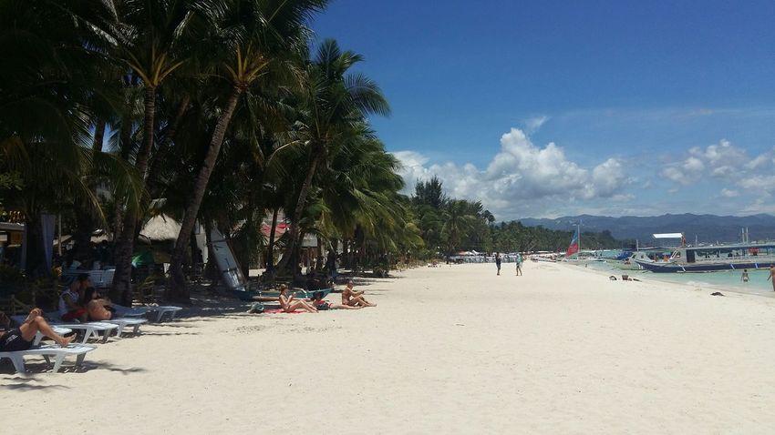 White beach, boracay Summer Philippines Life Is A Beach Boracay Landscapes Blue Sky Nature Travel