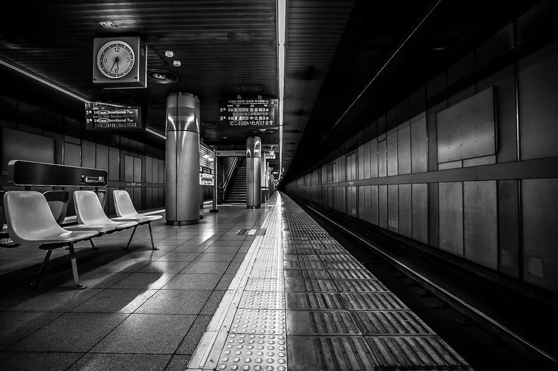 Black And White Friday Transportation Public Transportation Railroad Station Railroad Station Platform Rail Transportation Indoors  Illuminated The Way Forward No People Night Subway Train EyeEm Masterclass EyeEm Best Shots Streetphotography Tranquility Abstract Black And White Friday