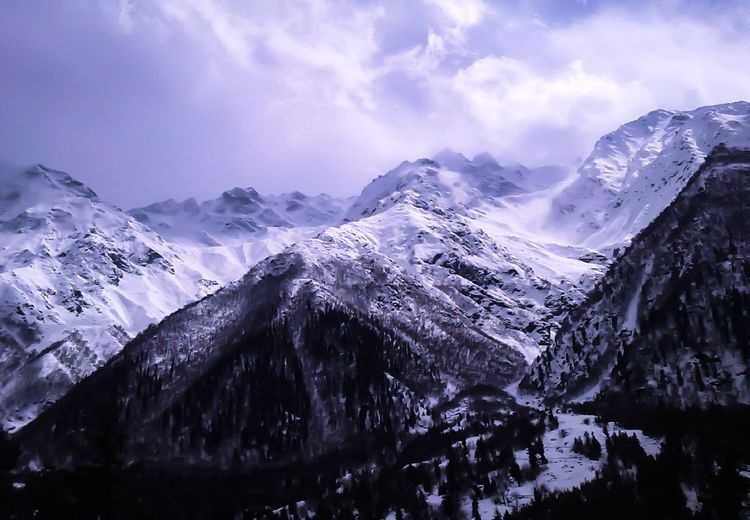 Sangla Valley Snow Mountain Winter Cold Temperature Nature Sky Beauty In Nature No People Landscape Outdoors Scenics Day Glacial