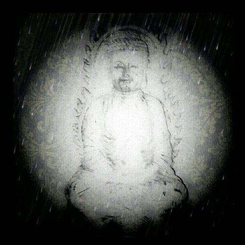 Good morning! Buddha Buddhisn Vignette Blackandwhite BW mobilephotography blessed