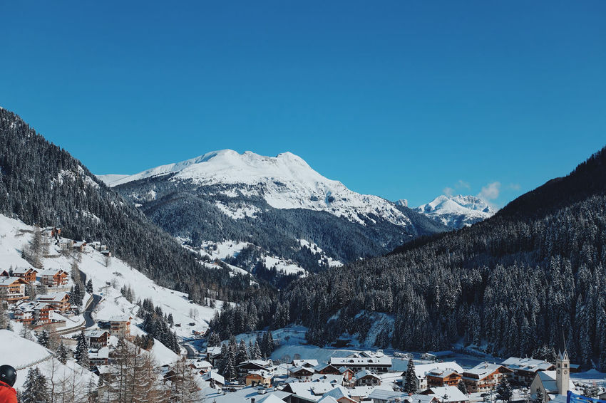 Italian Dolomites in Winter , Alta Badia, Colfosco Alta Badia Beauty In Nature Blue Sky Cold Colfosco Day Eaurope Freezing Italy Landscape Leisure Mountain Mountains Nature Outdoors Pinaceae Powder Ski Lift Skiing Snow Snowboarding Tranquility Travel White Color Winter