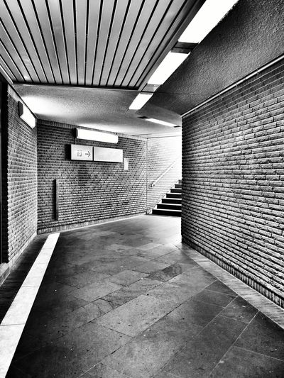 Black & White Tunnel Staircase Underground Perspectives And Dimensions in Bonn