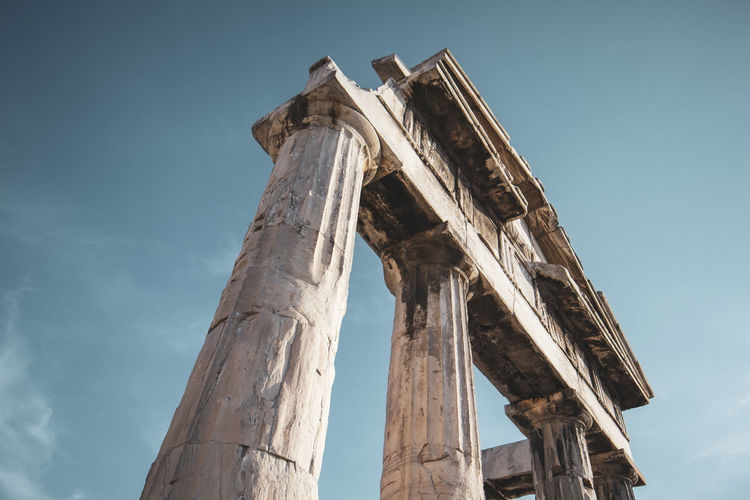 Athens Athens Greece Athens, Greece Sky Low Angle View History The Past Ancient Civilization Old Ruin Ancient Architecture Architectural Column Broken Built Structure Ruined Old Damaged Weathered Nature Bad Condition No People Day Travel Destinations Archaeology Outdoors Deterioration Ancient History