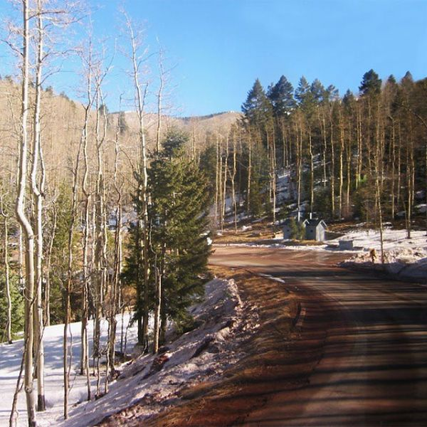 Sunrise in New Mexico, 2003. Snow Ski Outdoorlife Glorieta The Great Outdoors With Adobe