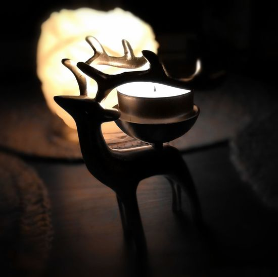 Earth hour! Close-up No People Shadow Indoors  Candlelight Reindeer Figure Candels Earth Hour 2017
