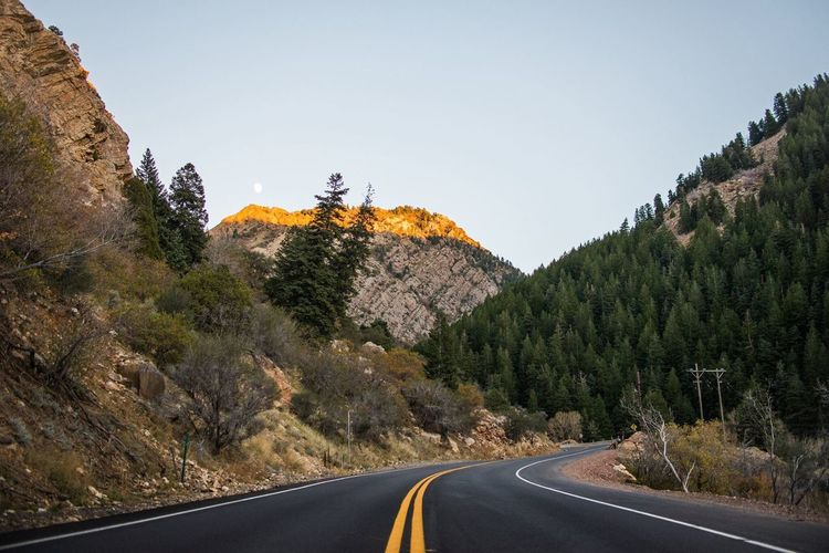 Big Cottonwood Canyon, UT. Mountain Nature Tree Beauty In Nature Landscape Rock - Object Tranquility Scenics Road The Way Forward Day Outdoors Sky Mountain Road Winding Road Clear Sky No People Adventure Travel Destinations The Great Outdoors - 2017 EyeEm Awards