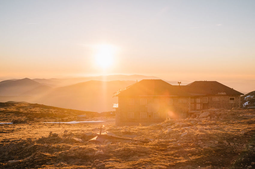 Architecture Beauty In Nature Building Exterior Built Structure City Day Lens Flare Manteigas Mountain Nature No People Outdoors Scenics Sky Sun Sunbeam Sunlight Sunset