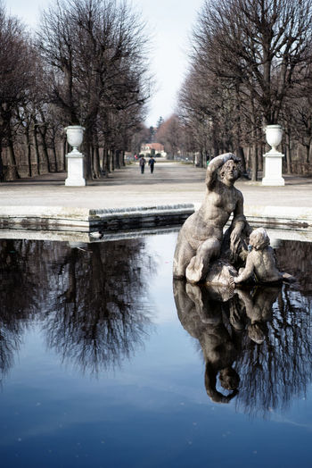 Day Fontain Nature No People Outdoors Reflection Schoenbrunn  Sculpture Statue Water Winter