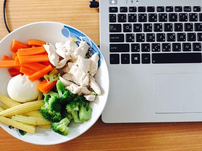 Clean Eatclean Lowfat Lowcalorie Vegetables Chicken Carrots Boiledegg Healthy Food Sell