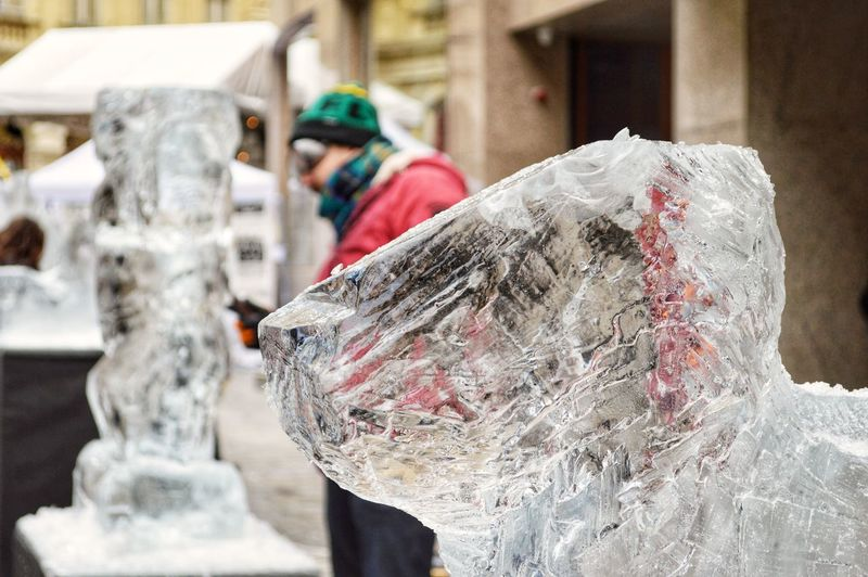 Street IceArt City Life Urban Urban Life Urbanphotography People People And Places Ice Ice Statue Art Is Everywhere Arts Culture And Entertainment Street Streetphotography Street Photo EyeEm Selects Outdoors Day No People City Close-up Architecture EyeEm Ready   The Street Photographer - 2018 EyeEm Awards Creative Space