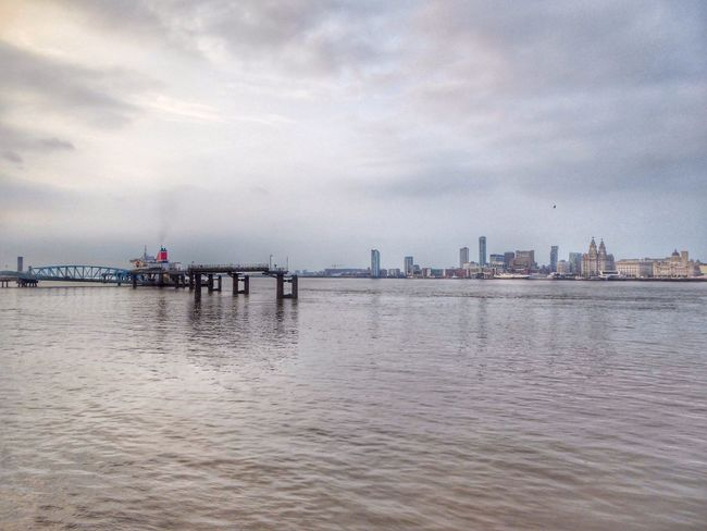Mersey river Taking Photos Bad Weather In Liverpool