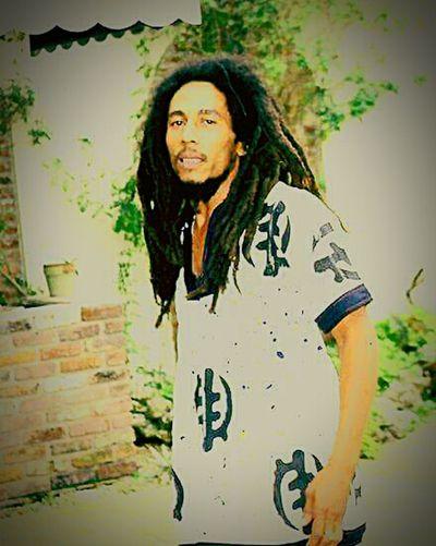 Bob Marley_art Long HairPortrait Real People Ganjaboy Relaxaxion