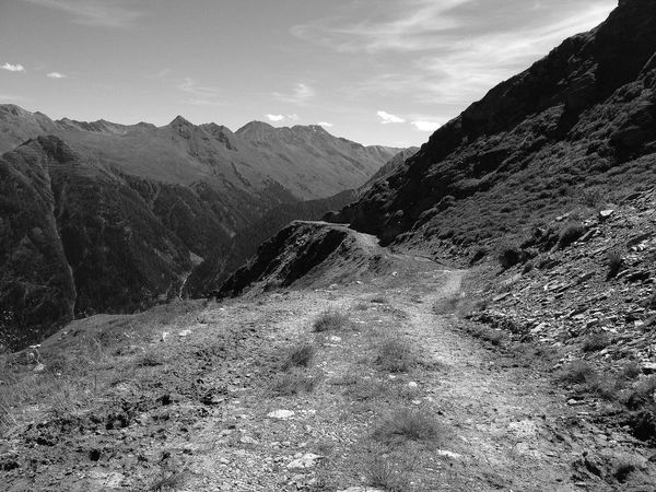 Old mountain road Mountain Nature Beauty In Nature No People Outdoors Abandoned Places Abandoned Eye4photography  Eyeemphotography EyeEmNewHere Nature_perfection Mountains Mountain Roads Black And White Photography Blackandwhite Photography Black And White Blackandwhite EyeEm Best Shots - Black + White Alps Austria Feeling Free Road