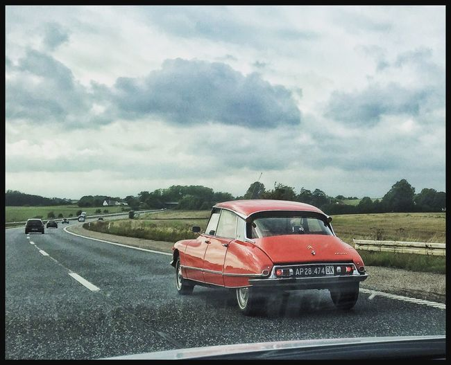 Classic Car Citroen Citroën DS 1968 Driving Freeway Denmark From My Point Of View