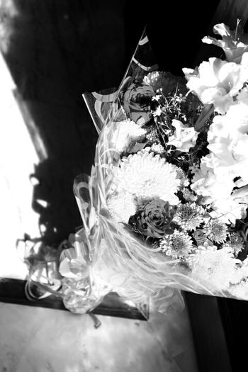 Flower Bouquet Beauty In Nature Nature_collection Flower Head Blackandwhite Photography Black And White Happy Birthday! Gift Flowers Happiness Happy Anniversary Flower Arrangement Flower Collection