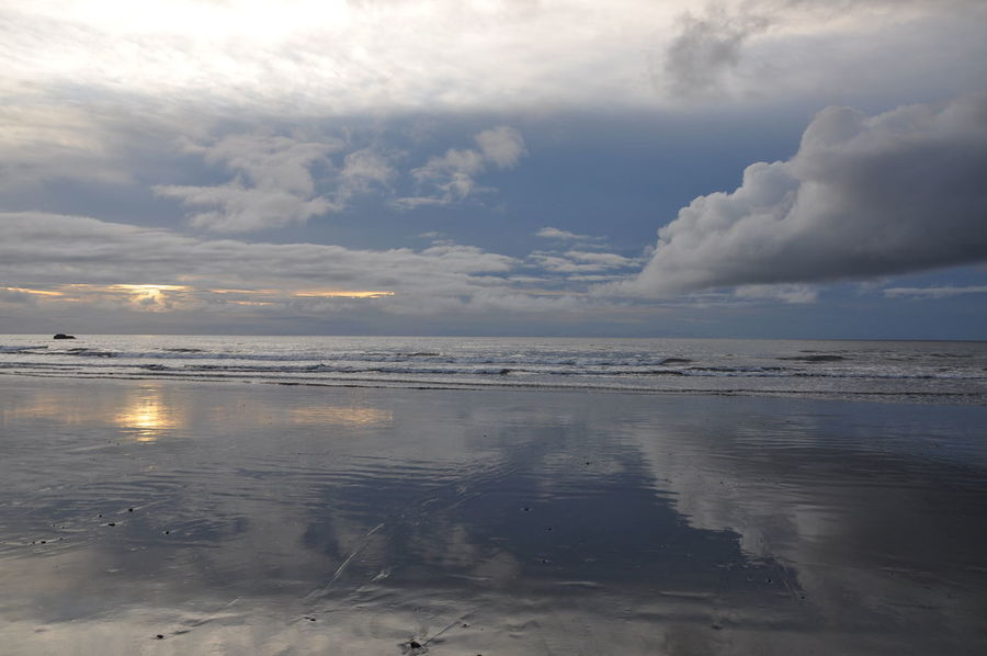 Beach Beauty In Nature Choco Cloud - Sky Colombia Dramatic Sky Landscape Latin America Nature Nuquí Pacific Ocean Reflection Scenics Sea Sky South America Sunset Water Water Reflections Betterlandscapes