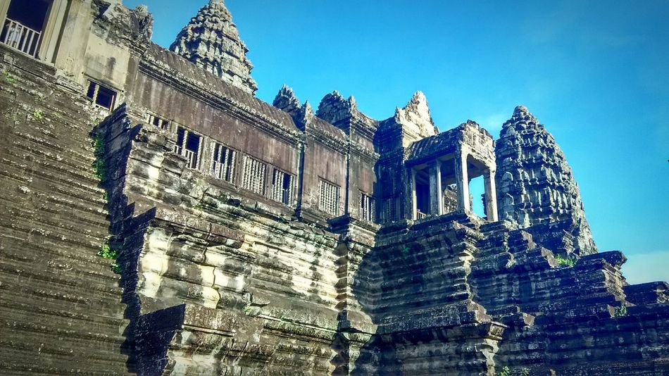Angkor Wat Travel Siemreap History Cambodia Hello World Adventure Landscape Sky And Clouds 7 Wonders