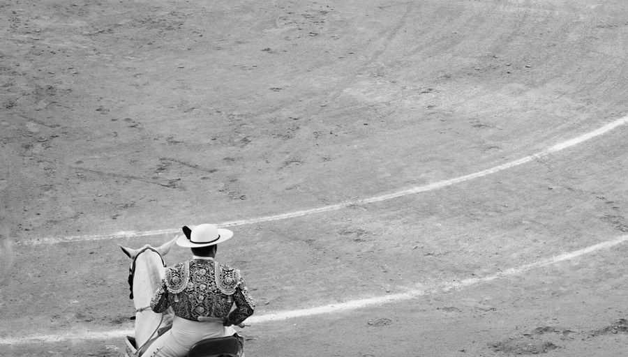 Rear view of a bullfighter