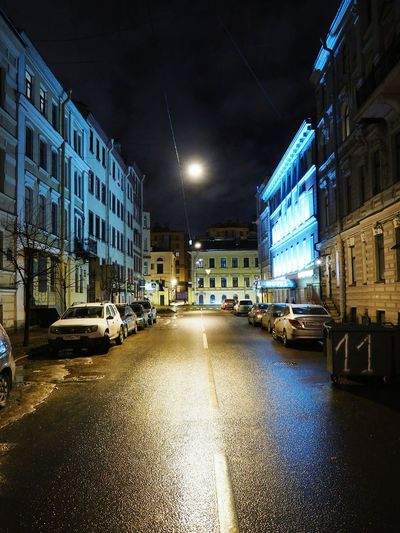 Street Night City City Street Illuminated Building Exterior Road Built Structure No People Outdoors Architecture Cityscape