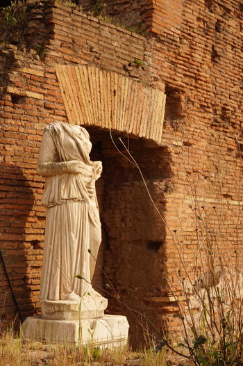 Headless Vestalia statue in Rome, Italy Sculpture Ancient Civilization Cultures History Old Ruin Heritage Site Heritage Italy Italia Travel The Past Ancient Rome Roma Rome, Italy Rome View Rome Italy Travel Destinations Statue Vestale