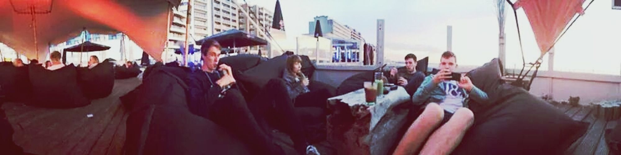 Good drinks, lovely friends, wachting the sunset..