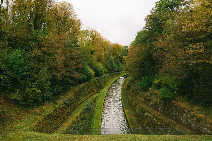 Boat Canal France Nature Outdoors