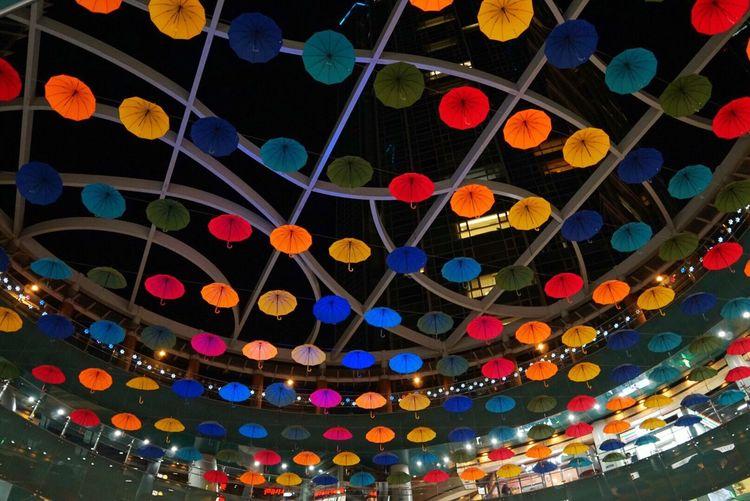 South Korea Night Multi Colored Low Angle View Light Pattern 19mmf28 Sigmalens SonyA5000