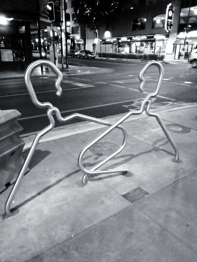 Streetart Coathangers? Coathanger Coat Hangers Stainless Steel Tubing Man-made Objects Adelaide Adelaide, South Australia PublicArtworks Night Nightphotography Night Photography Black And White Bicycle Parking Rails BicycleParkingRails ArtWork Check This Out Bicycle Lockers No People Adelaide, South Australia Taking Photos Streetphoto_bw Blackandwhite Streetphotography Street Street Photography Road Architecture Bicycle Rack Street Scene