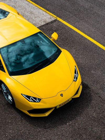 Lamborghini Hurucan Yellow Car Transportation Lamborghini Hurucan Marketplace Advertising Photography Photooftheday Photo Check This Out EyeEmNewHere Paint The Town Yellow
