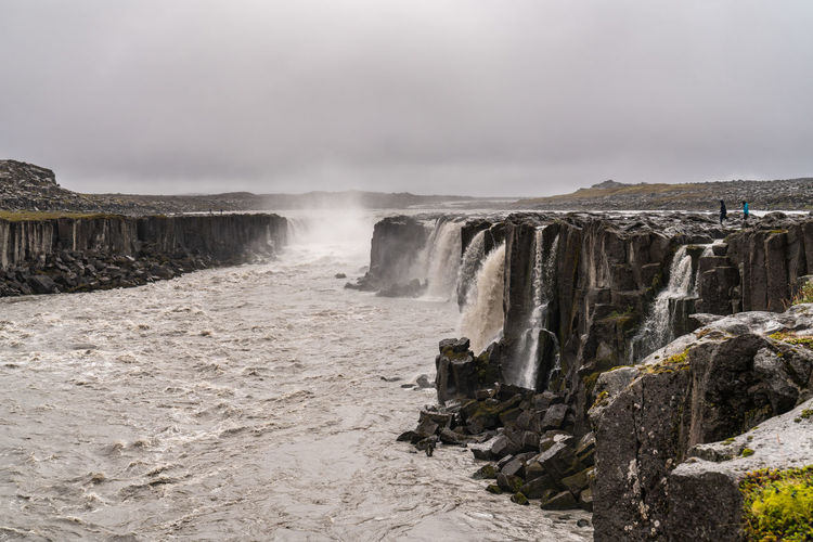 Iceland Beautifuliceland Beauty In Nature Cloud - Sky Day Environment Flowing Land Motion Nature No People Outdoors Power In Nature Rock Rock - Object Scenics - Nature Selfoss Sky Solid Tranquil Scene Tranquility Water Waterfall