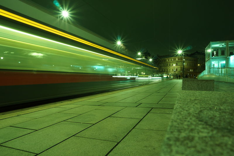 Ringstrasse Vienna Bim Neu Bim Street Wien Blurred Motion Long Exposure
