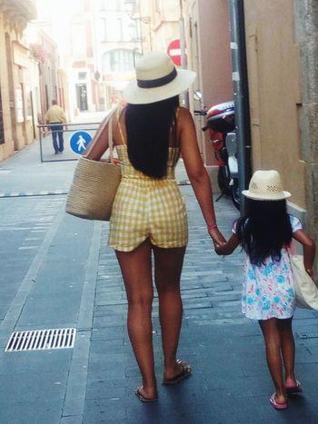 City Full Length Women Females Rear View Hat