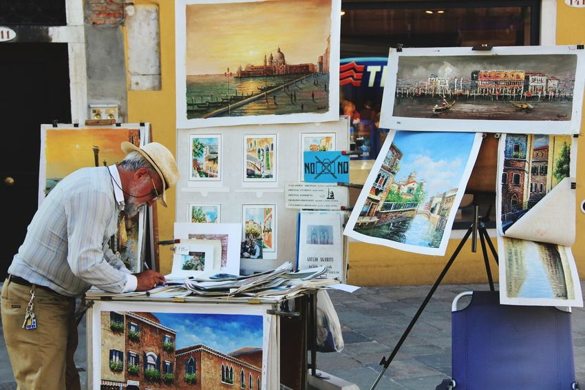 Artist Creativity Craft Adult Painter - Artist Art And Craft Studio Art Studio Indoors  Adults Only Easel Workshop Paintbrush Working Skill  Artist's Canvas Occupation Business Finance And Industry Craftsperson Work Tool