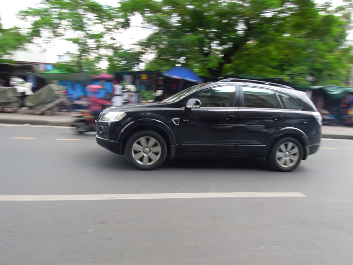 Vehicles parked on road