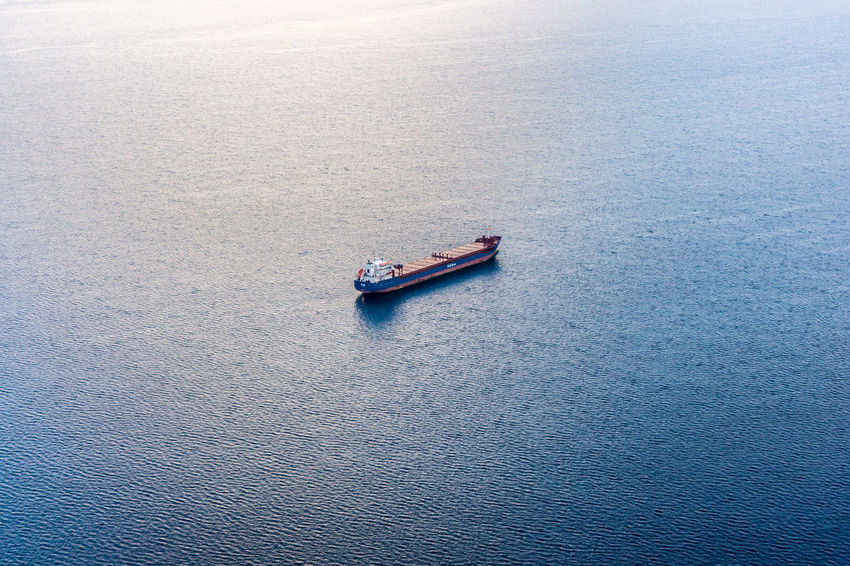 2016_03_MediterraneanSea Container Container Ship Container Vessel High Angle View High Seas Mediterranean  Mediterranean Sea Nautical Vessel Ocean Ocean View Ship Transportation Vessel Water Water Reflections Blue Wave