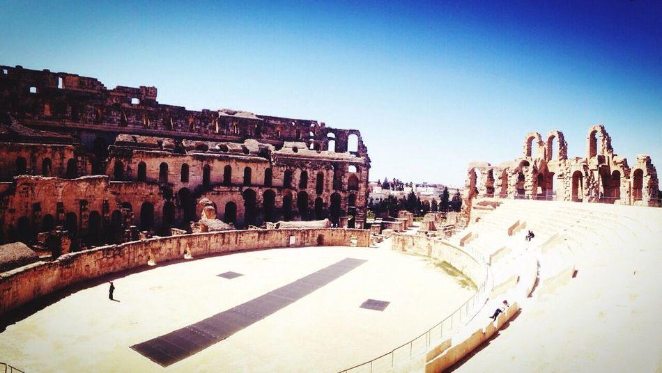 Tunisie Al Jem амфитеатр эль-джем история Рим гладиатор Сьемка орелирешкавтунисе медиа