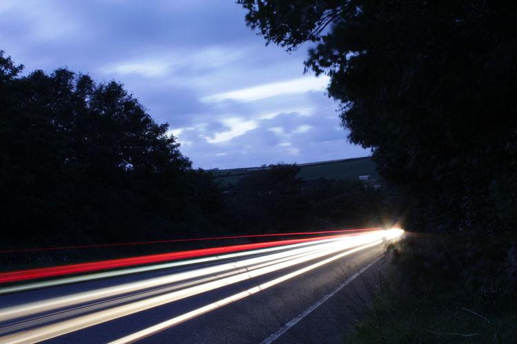 Lighttrails Red