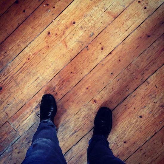 On the Floor Shoes Parkett Diagonal Fussboden