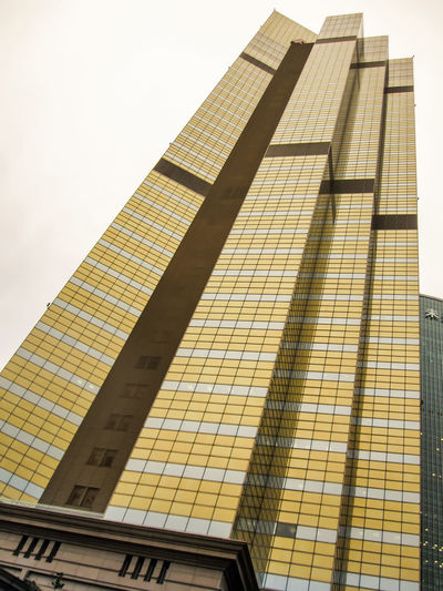 Modern building. Modern office building with facade of glass. Building Building Exterior Modern Modern Architecture Architecture Office Buildings Architecture Abstract Business Business Finance And Industry Glass Exterior City Façade Urban Urban Skyline Design Construction Sky Skyscraper Structure Contemporary Light Commercial Finance