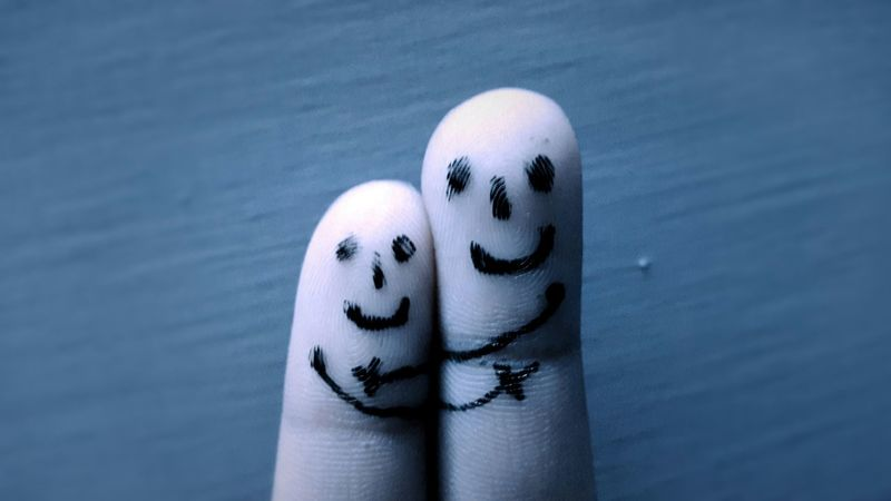 Fingers ArtWork Love EyeEm Best Shots Love♡ Hug Hugging Happy :) Cobalt Blue By Motorola Blue EyeEm Bestsellers