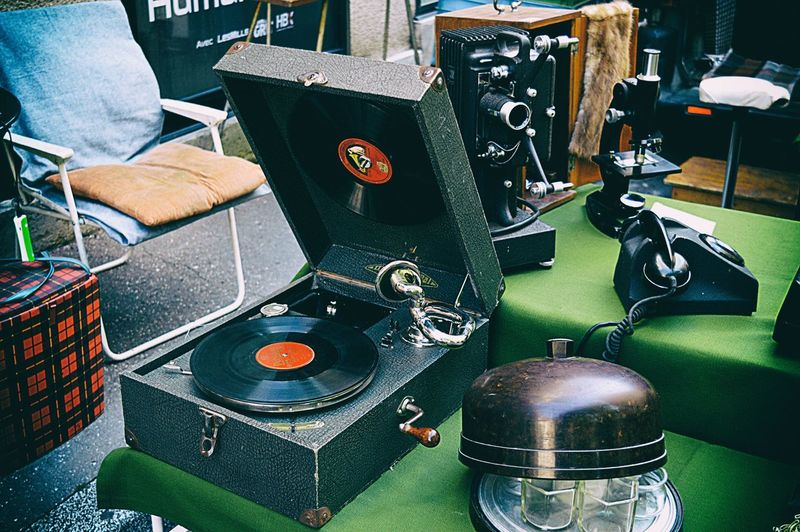 Antiques Arts Culture And Entertainment Bakelite EyeEmNewHere Fleamarket Gramophone LP Market Music Phone Record Record Player Needle Records Retro Sound Recording Equipment Style Technology Turntable Urban Exploration Urban Photography