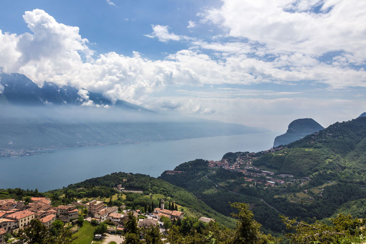 Lago di Garda Lago Di Garda Gardasee Gardalake Alps Italy Lake Lake View Water Village Panorama Cloud - Sky Sky Beauty In Nature Scenics - Nature Nature Sea Day Mountain Tranquil Scene Tranquility No People Environment Plant Tree Architecture Land Idyllic Building Exterior Outdoors