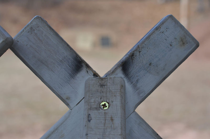 Wood X Support or Target Shooting Aiming Target Close-up Focus On Foreground Nature No People Outdoors Shooting