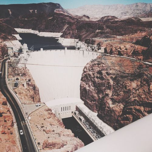 Hoover dam, Las Vegas Architecture High Angle View Building Exterior Day No People Scenics Landscape Beauty In Nature Aerial View Mountain Outdoors Nature Sky Scenic Lookout
