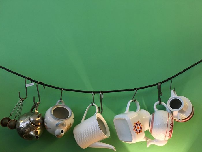 But first Coffee. Alternative AlwaysGood Breakfast Cafe Cafe Time Coffee Cozy Cozyplace Cups Day Decoration Design Goodmorning Green Color Hanging Hipster Idillic Kitchen Lifestyle Like Morning No People Tea Teapot First Eyeem Photo