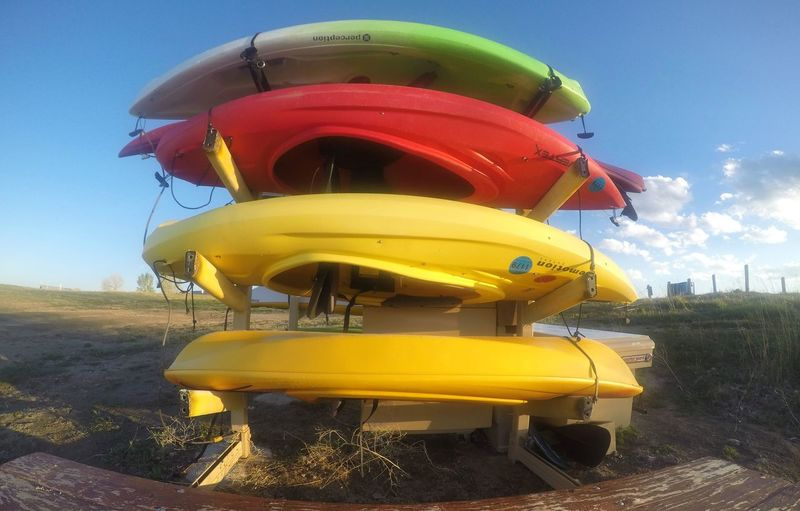 Boats Parked Up Bright Colours Colorado Views Multi Colored No People Outdoors Sporty Sunny Boats Variation Yellow