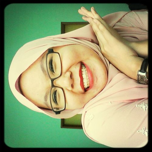 my crazy sista Littlesister Redlipstick Kenduri Kahwin Being Crazy #biggestsmile